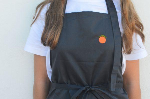 Davantal gris AMPELT taronja